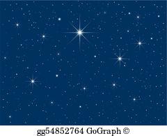 Starry Night Clip Art.