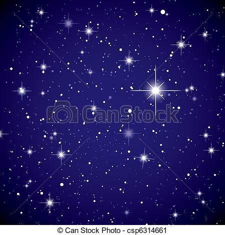 Vector Clip Art of Space view star sky.