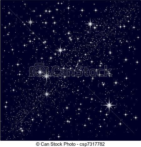 Vector Illustration of Vector illustration of a starry sky.