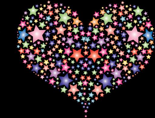 Hearts Stars Cliparts.