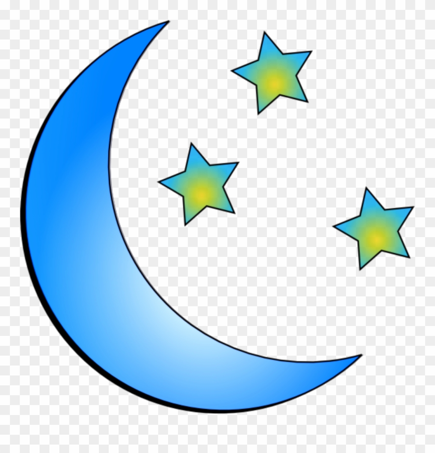 Ftestickers Stars Moon Crescent Blue.