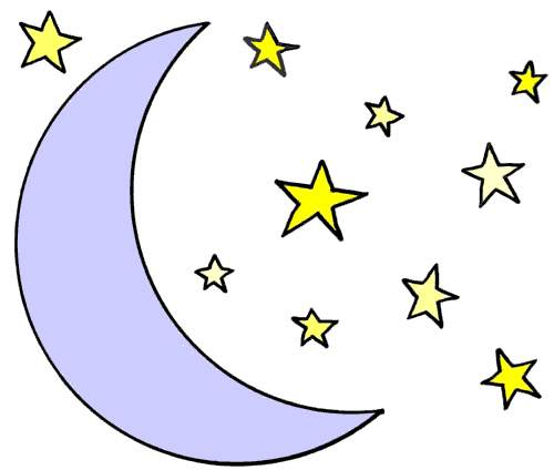42+ Moon And Stars Clip Art.