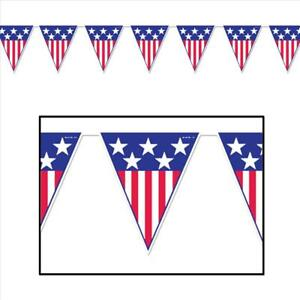 Details about Stars And Stripes Pennant Banner.
