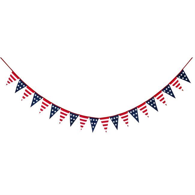 Stars & Stripes Pennants String Decor.