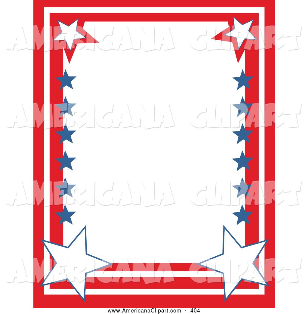 Americana Vector Clip Art of a Patriotic Stationery Border.