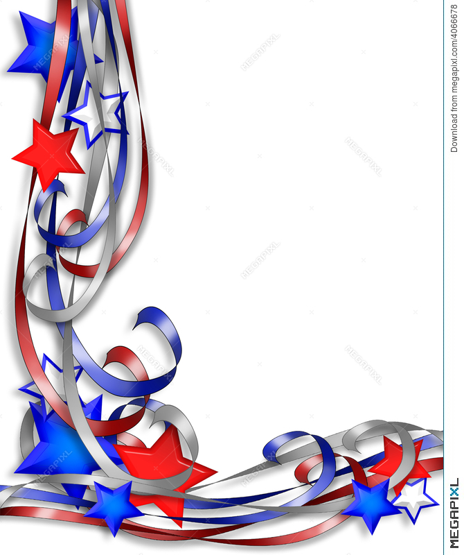Patriotic Border Stars Stripes Illustration 4066678.