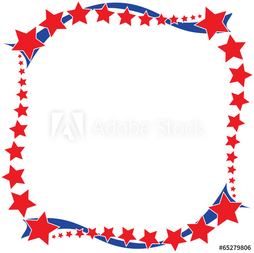 Stars and Stripes Border.