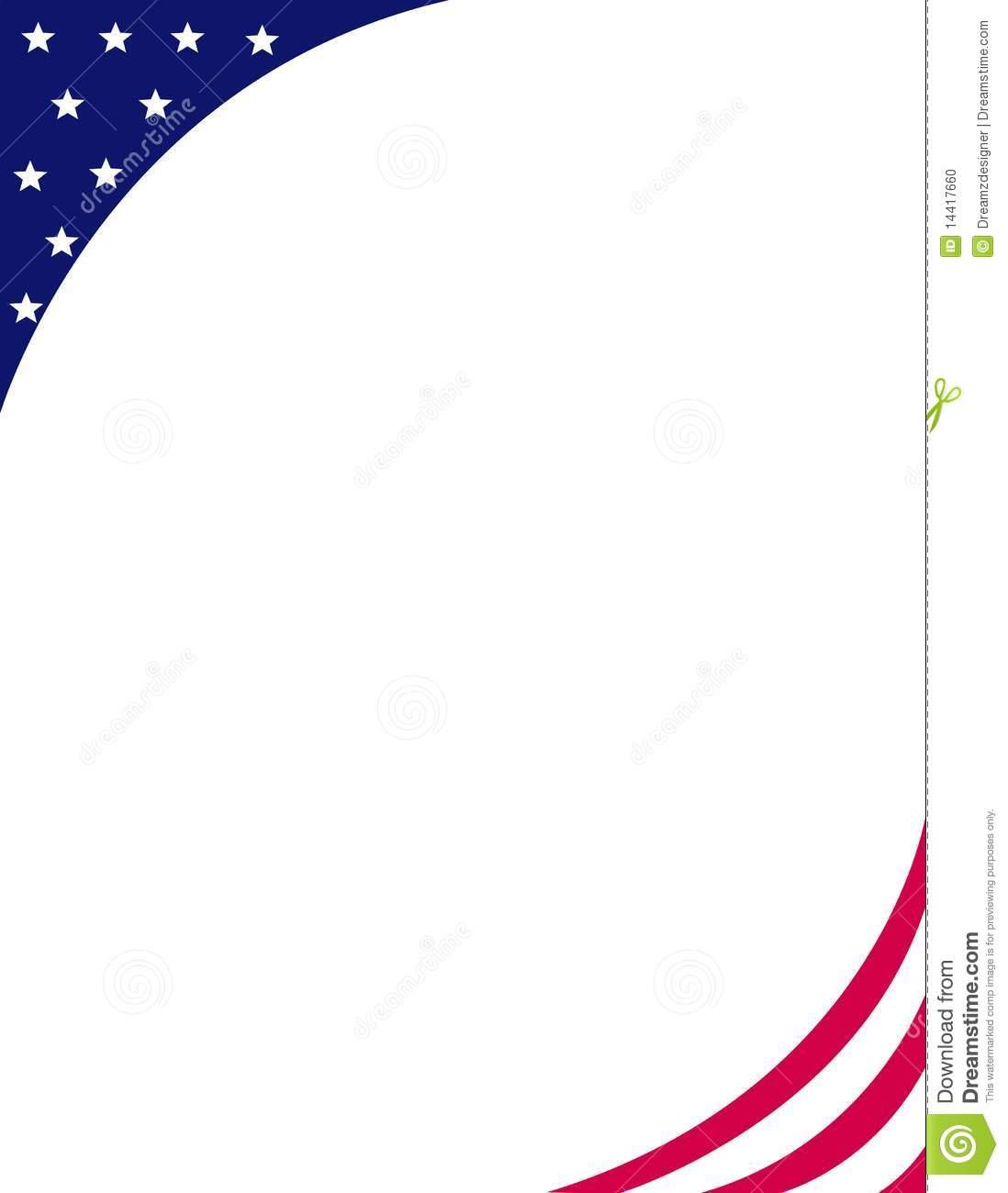 Patriotic Border Clip Art.