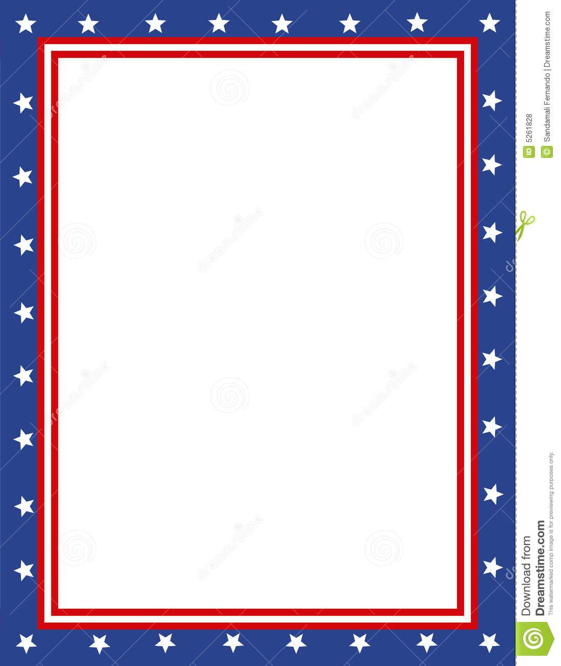 Patriotic Borders Clipart.
