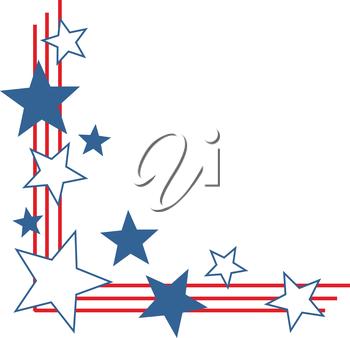 Stars and stripes border.