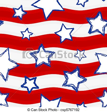 Stars and stripes clipart #12