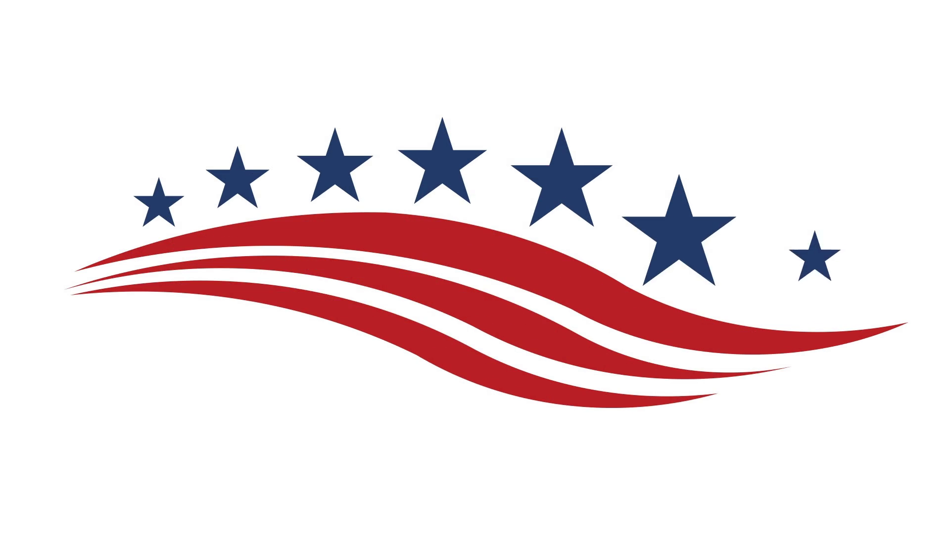 America Stars and Stripes Video Logo Animation, Motion Graphic Motion  Background.