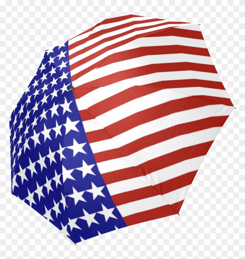 Usa Patriotic Stars & Stripes Foldable Umbrella.