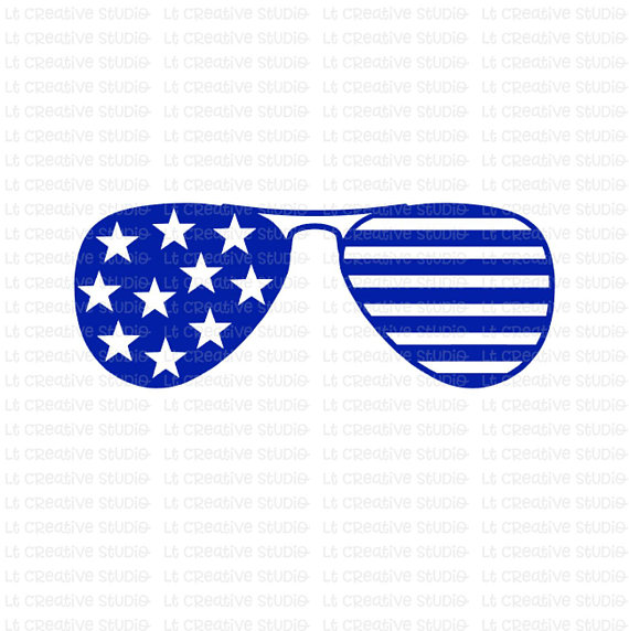 Star Stripes Sunglasses SVG, Fourth of July SVG, 4th of July.