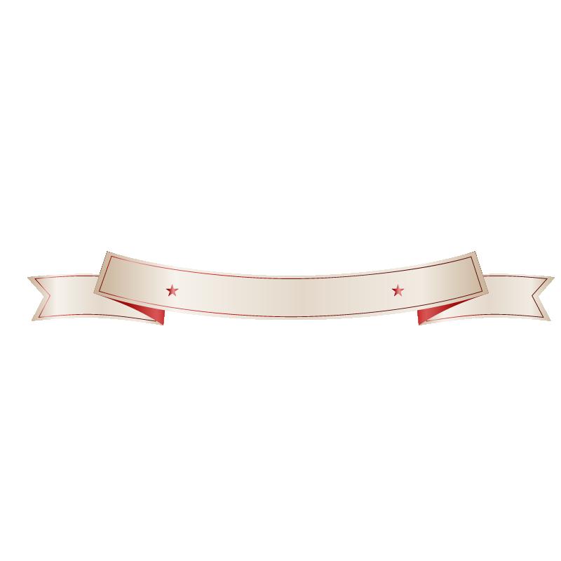 White Red Banner Flag.