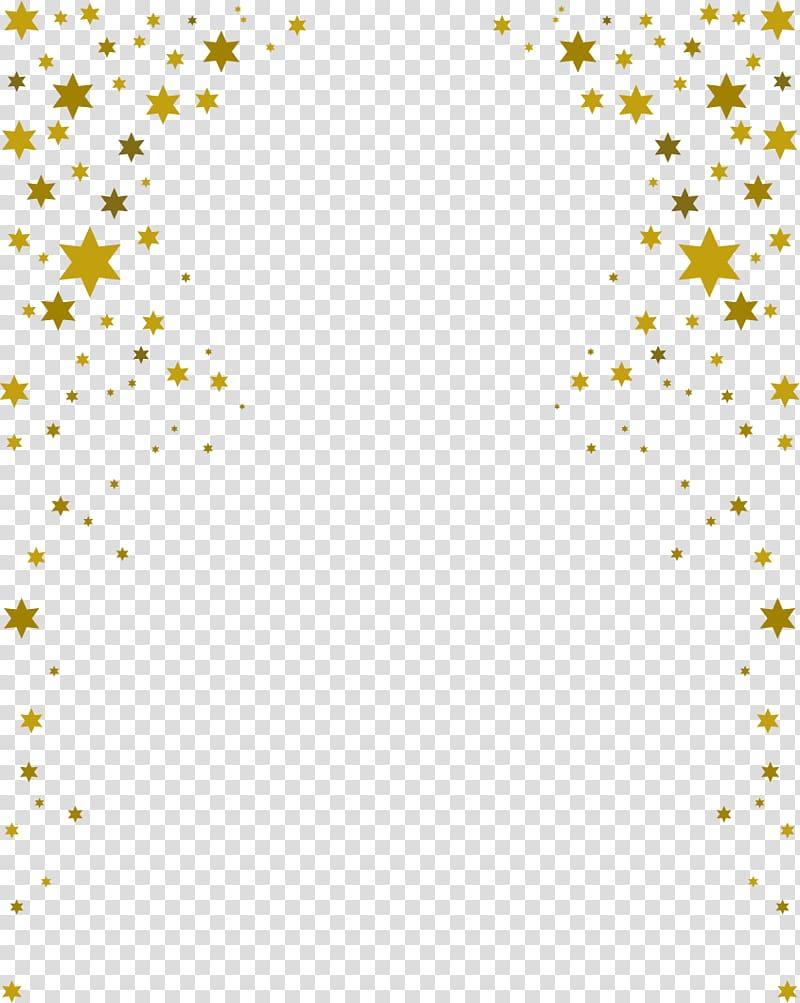 Stars Border , blue surface transparent background PNG.