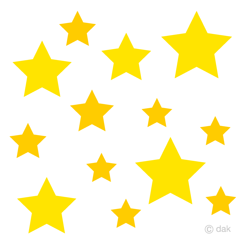 Many Stars Clipart Free Picture|Illustoon.