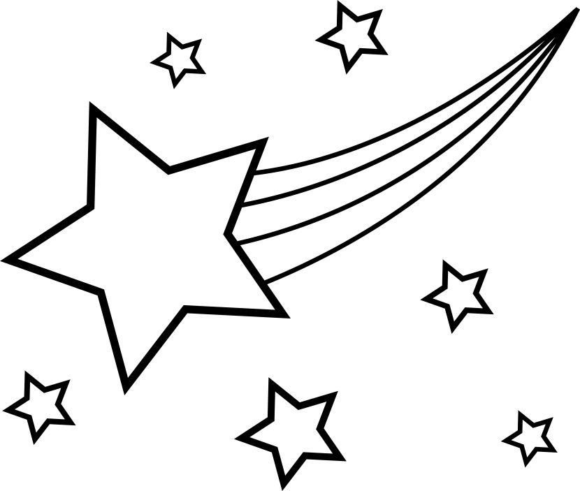 Best Star Clipart Black and White #27791.