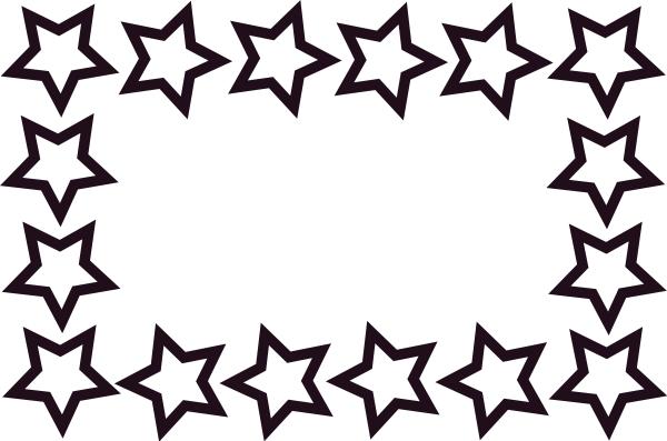 Stars Clipart Black And White Border.