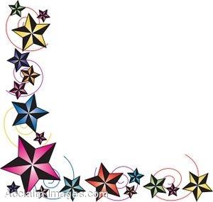 Christmas Star Border Clip Art.