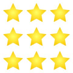 Free 4 Stars Clipart Image|Illustoon.