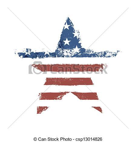 Clipart flag star.