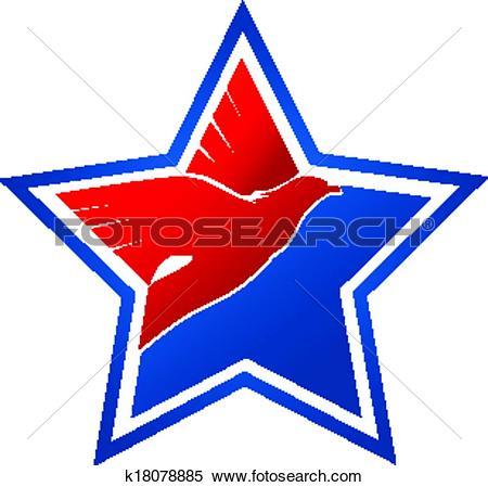Clip Art of American flag.