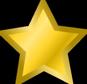 Yellow Star 3 Clip Art at Clker.com.