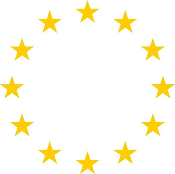 European Stars clip art Free vector in Open office drawing svg.