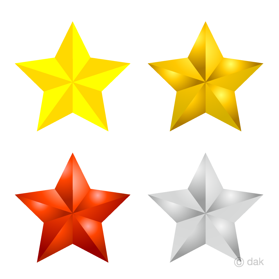 Free 4 Stars Clipart Image|Illustoon.