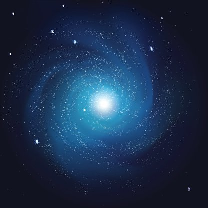 galaxy with the stars in space Clipart Image.