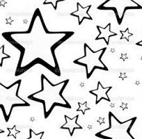 Stars In The Sky Clipart Black And White.