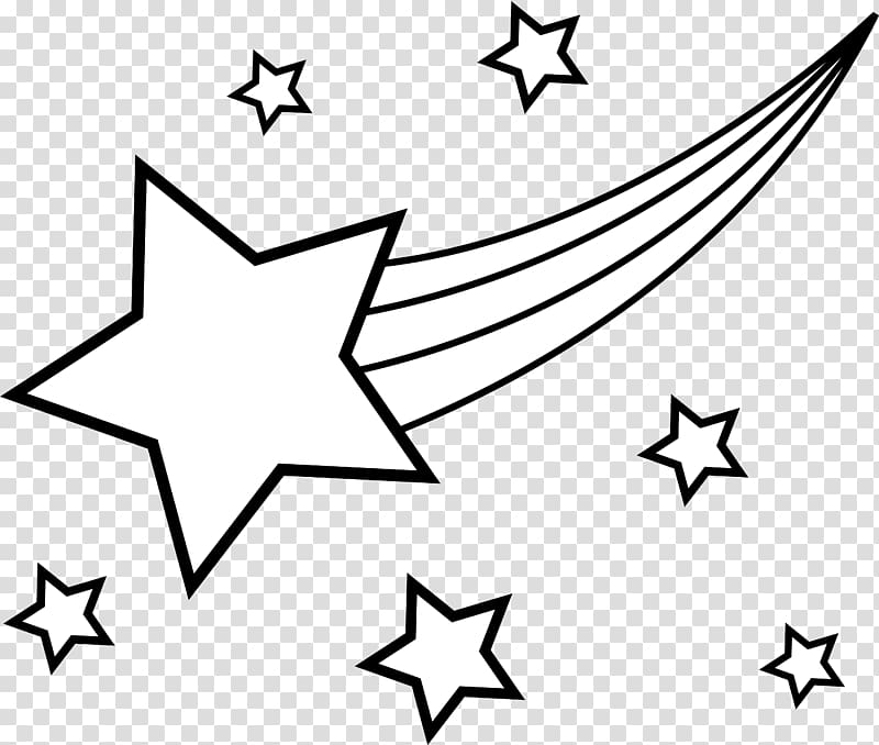 Coloring book Star Drawing Shooting , Stars Line transparent.