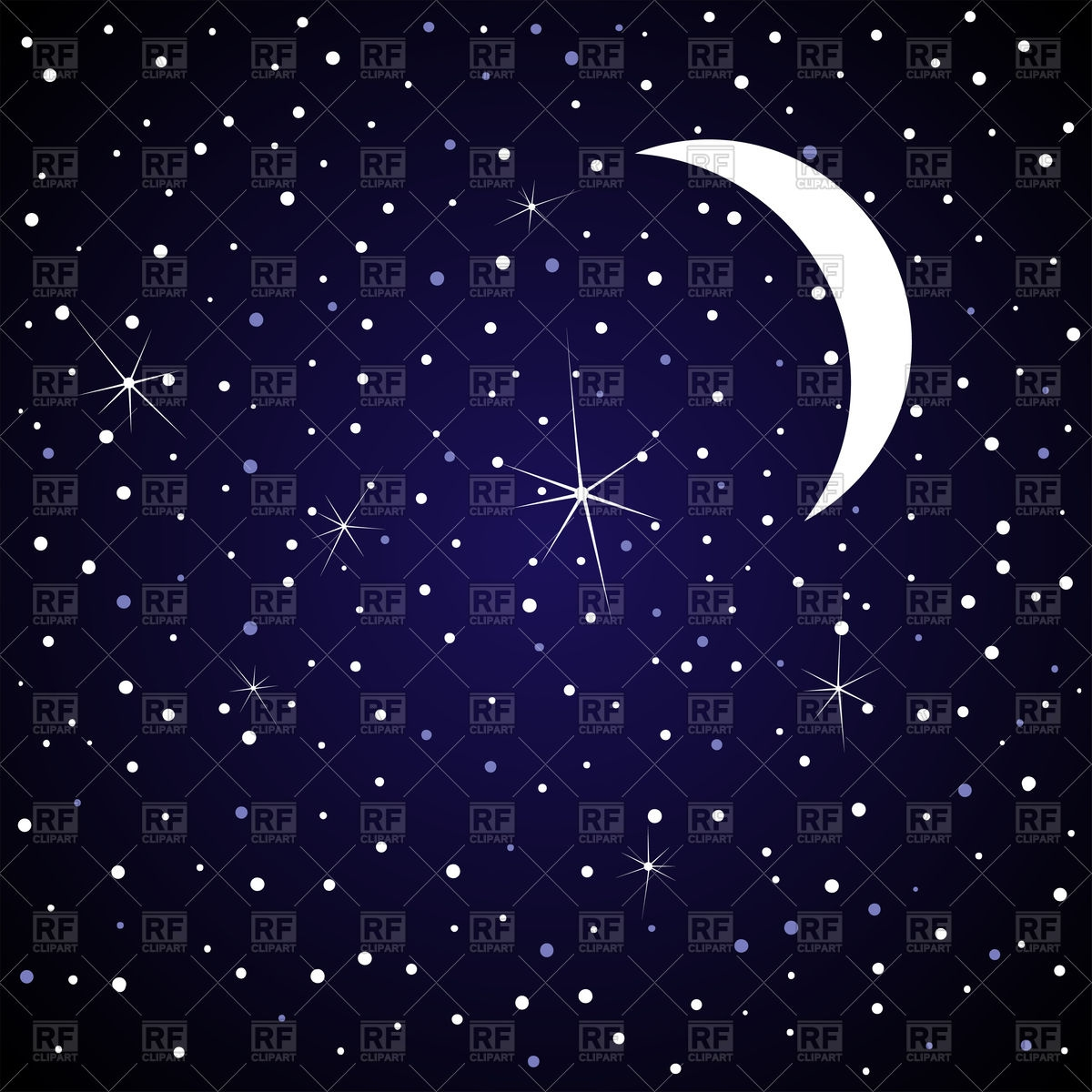 Night sky mobile clipart.