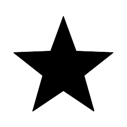 Silhouette Of A Star.