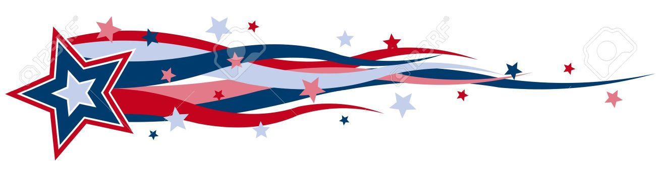 Stars and stripes clipart.