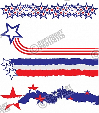 Free Samples Stars and Stripes Vector Images Download.