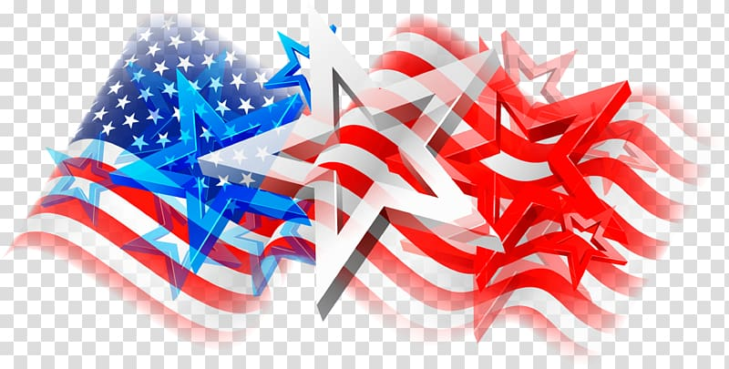Stars and stripes transparent background PNG clipart.