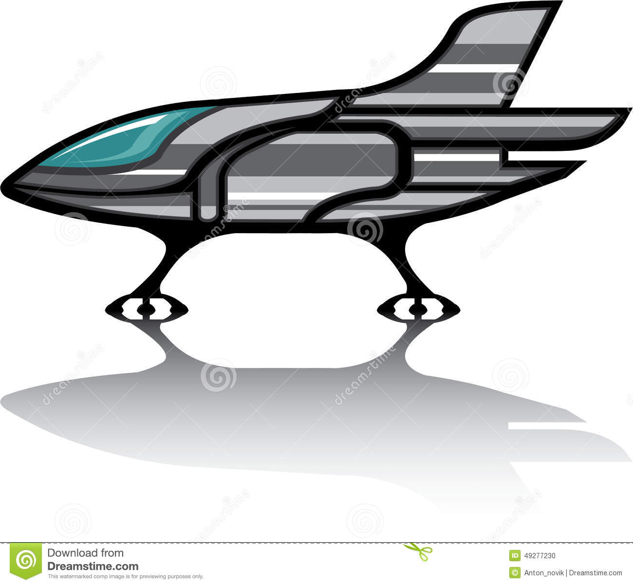 Spaceship Vector Stock Vector.