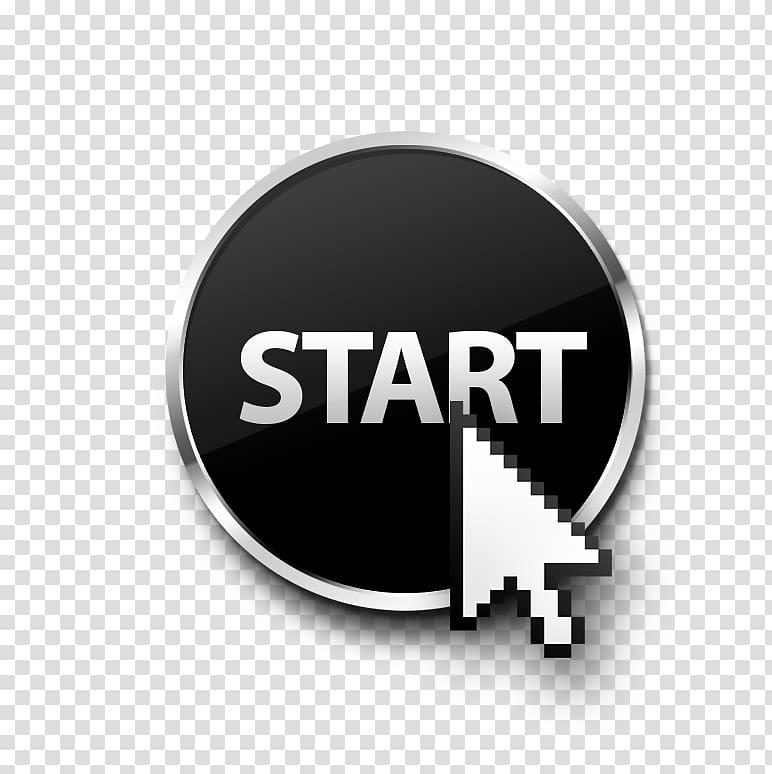 Button Arrow Pointer , The Start button transparent.