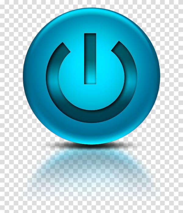 Blue power button, Computer Icons Desktop , Blue Power.