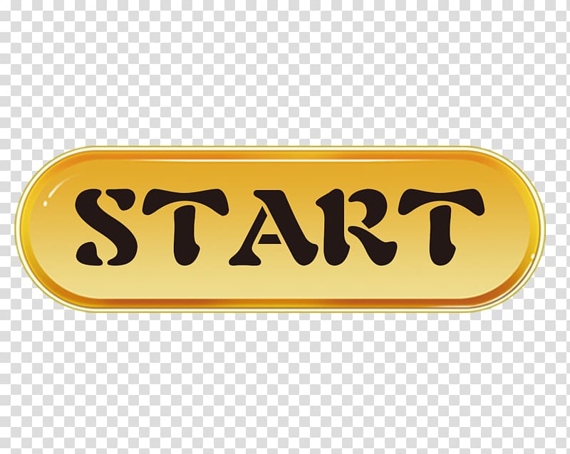 Start text, Button Logo Icon, The Start button transparent.