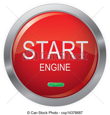Vector of Engine Start Glossy Button,EPS10 Vector illustration.