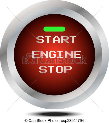 EPS Vectors of vector start stop engine button isolated.