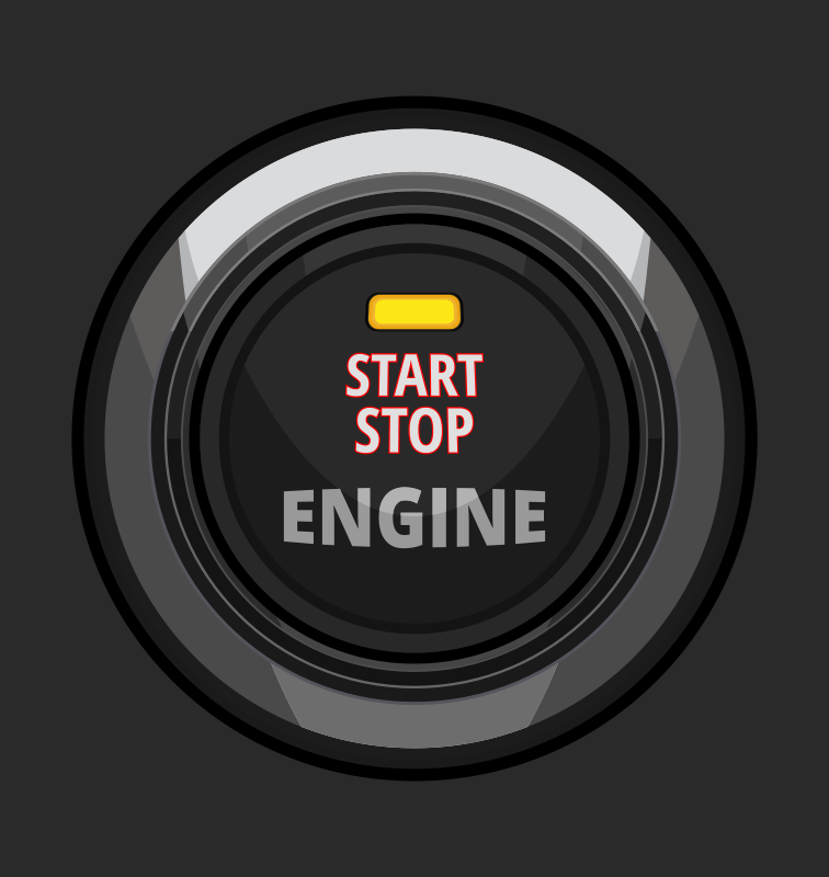 Free Clipart: Engine Start Stop Button.