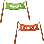 Start And Finish Clipart.