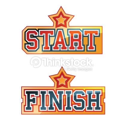 Start Finish Clipart.