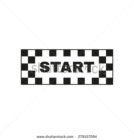Clipart starting line.