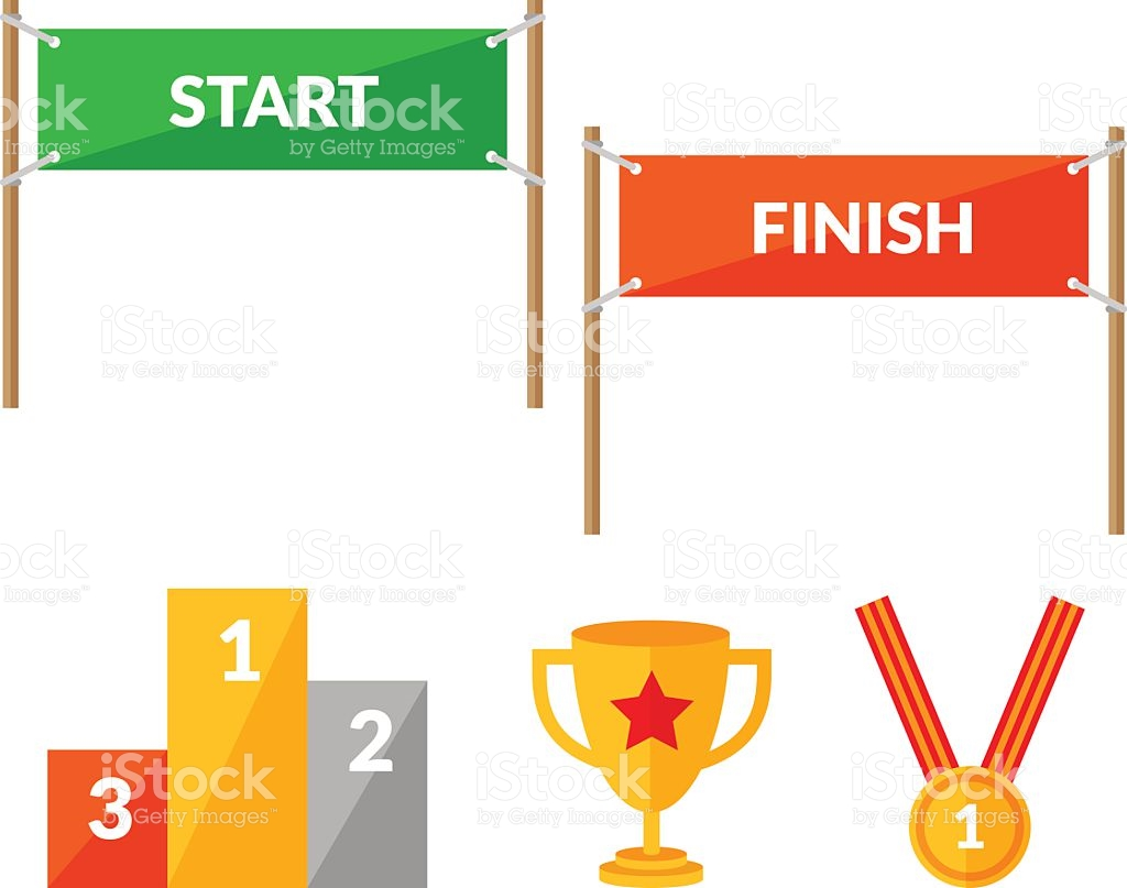Start finish clipart.