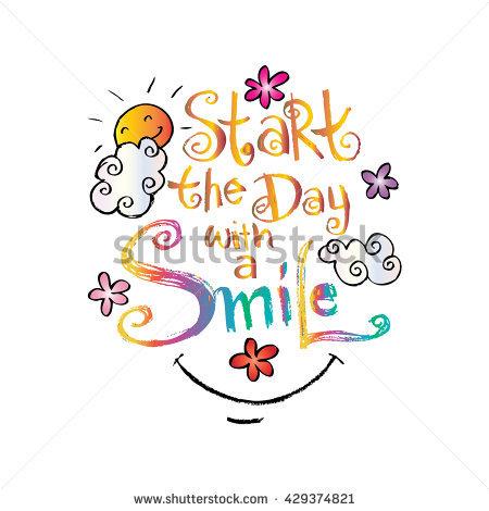 Motivation Lettering Start Day Smile Stock Vector 429374815.